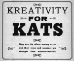 Kreativity for Kats - Galaxy Jun 1961